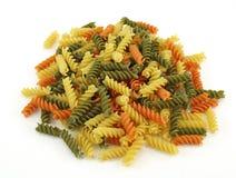 五颜六色的意大利面食蔬菜 库存图片