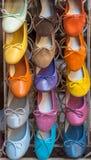 五颜六色的意大利鞋子 库存图片