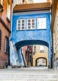 五颜六色的房子华沙 免版税图库摄影
