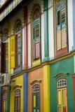 五颜六色的房子印度一点singapur 免版税库存图片