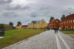 五颜六色的房子在哥本哈根,丹麦 库存图片