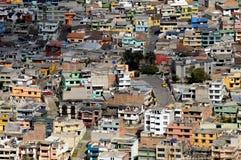五颜六色的房子在拉丁镇 免版税库存照片