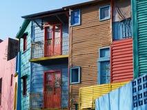 五颜六色的房子在拉博卡 免版税库存图片