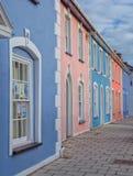 五颜六色的房子在Aberaeron,威尔士 库存图片