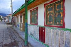 五颜六色的房子在Salento 库存照片
