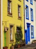 五颜六色的房子城镇 库存照片