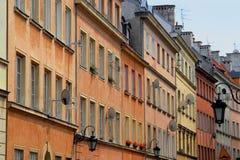 五颜六色的房子廉价公寓 库存图片