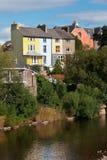 五颜六色的房子英国威尔士 免版税库存图片