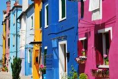 五颜六色的房子 库存图片
