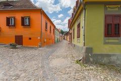 五颜六色的房子 库存照片