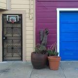 五颜六色的房子 免版税库存图片