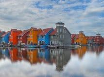 五颜六色的房子 免版税库存照片