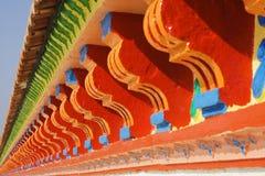 五颜六色的房檐 库存图片
