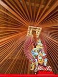 五颜六色的手工制造印度尼西亚印度木制品 库存图片