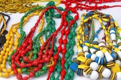 五颜六色的手工制造珠宝 免版税库存照片
