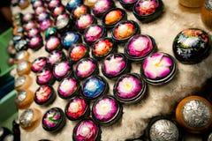 五颜六色的手工制造肥皂 免版税库存照片