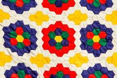 五颜六色的手工制造织品 库存图片