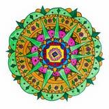 五颜六色的手拉的坛场样式 免版税库存图片