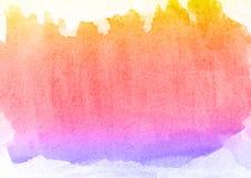 五颜六色的手水彩背景,光栅例证 库存例证