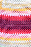 五颜六色的手被编织的棉花 免版税图库摄影