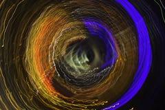 五颜六色的打旋的光 图库摄影