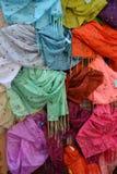 五颜六色的披肩 库存照片