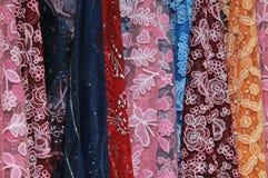五颜六色的披肩 库存图片