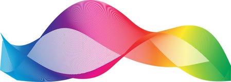 五颜六色的抽象光波背景 库存照片