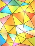 五颜六色的抽象几何三角背景例证 库存图片