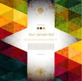 五颜六色的抽象几何背景 免版税库存照片