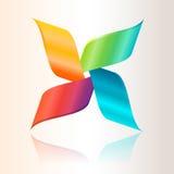 五颜六色的抽象商标 库存例证