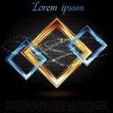 五颜六色的抽象形状。传染媒介商标 免版税库存照片
