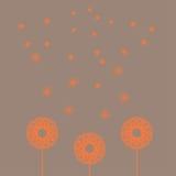五颜六色的抽象手拉的花 图库摄影