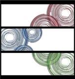 五颜六色的抽象技术横幅收藏 皇族释放例证