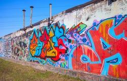 五颜六色的抽象文本街道画样式 免版税库存图片