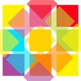 五颜六色的抽象方形的样式背景 平的设计 创造性的黄色桃红色蓝色紫罗兰色表面背景墙纸 模板 库存照片