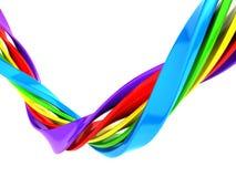 五颜六色的抽象曲线数据条背景 库存图片