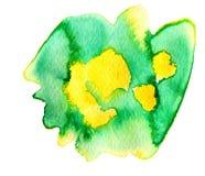 五颜六色的抽象水彩纹理污点与飞溅并且洒 皇族释放例证