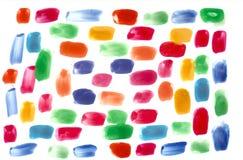 五颜六色的抽象水彩背景 免版税库存图片
