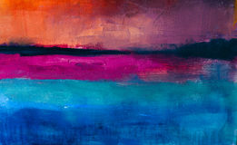 五颜六色的抽象油画背景 在帆布纹理的油 库存图片