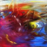 五颜六色的抽象油画 免版税库存图片