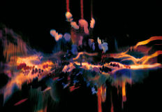 五颜六色的抽象波浪,创造性的动态元素 免版税库存照片