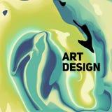 五颜六色的抽象液体墨水 现代样式趋向 背景 免版税库存图片