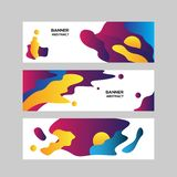 五颜六色的抽象现代benner背景 库存例证