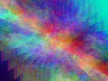五颜六色的抽象等离子绘画 库存照片