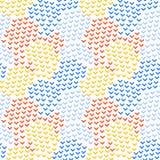 五颜六色的抽象简单的角度塑造几何无缝的样式,传染媒介 库存例证