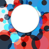 五颜六色的抽象背景是多彩多姿的圈子 向量 向量例证
