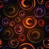 五颜六色的抽象背景点燃圈子 免版税库存图片
