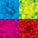 五颜六色的抽象背景设置与长方形 免版税图库摄影