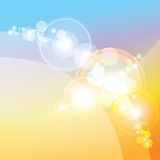 透镜火光作用,抽象背景, 免版税库存图片